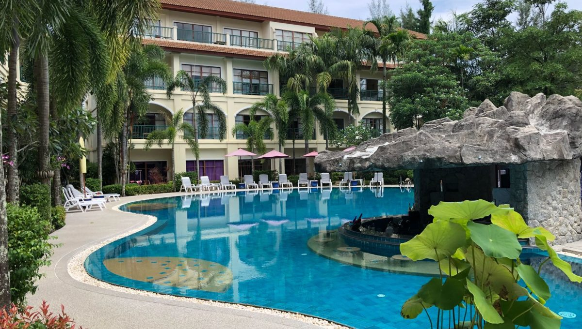 Pool through estate