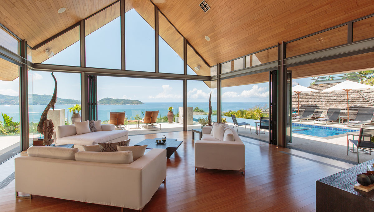 Living room at villa 15, Samsara private estate, Kamala, Phuket, Thailand