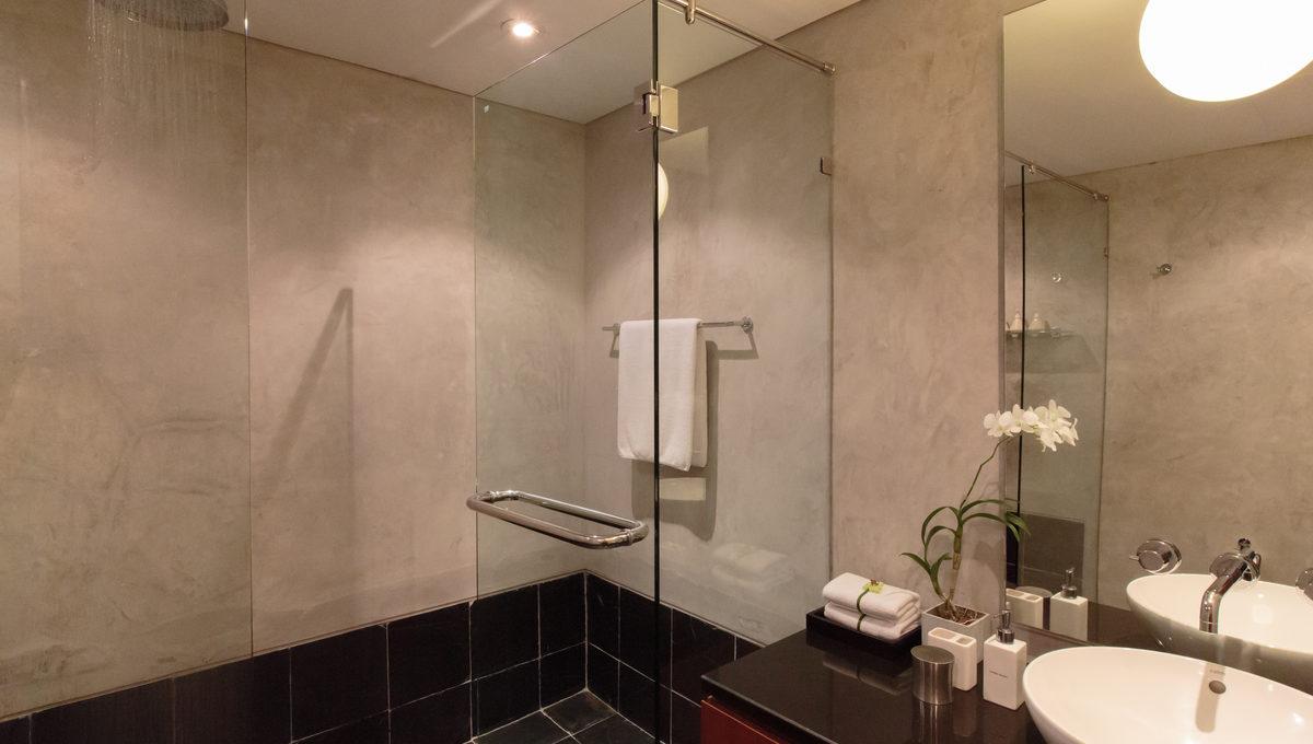 Shared bathroom at villa 15, Samsara private estate, Kamala, Phuket, Thailand